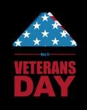 退伍军人日 美国哀悼和哀情的旗子标志下落的s的 免版税库存照片