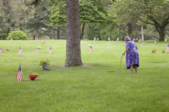 退伍军人的妻子   图库摄影