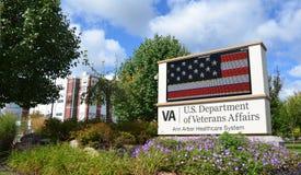 退伍军人的医院,安娜堡, MI 库存图片