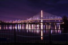 退伍军人玻璃城市Skyway桥梁 免版税库存照片