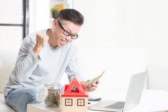 退休人员财政规划概念 免版税库存照片