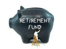 退休基金的存钱罐 免版税库存图片