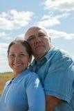 退休的夫妇愉快 免版税库存照片