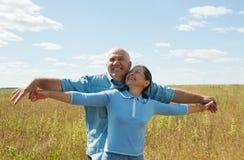 退休的夫妇愉快 库存图片