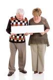 退休的夫妇横幅 免版税库存照片