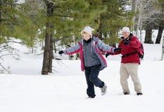 退休的有效的夫妇 免版税库存照片