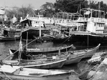 退休的渔船 库存照片