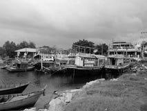 退休的渔船 免版税库存图片