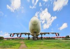 退休的飞机在泰国 库存照片