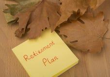 退休计划 免版税库存照片