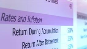 退休计算器文件纸卷领抚恤金者资助在几年投资以后 股票视频
