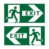 退出标志绿色 向量例证
