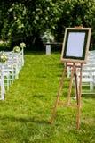 退出注册婚礼 免版税库存照片