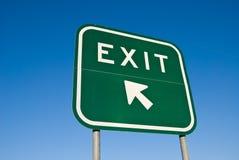 退出高速公路符号 免版税图库摄影