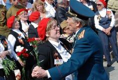 退役军人舞蹈和唱歌曲 免版税图库摄影