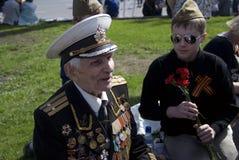 退役军人画象 库存照片