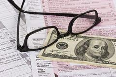 退款税务 库存图片