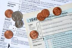 退款税 图库摄影