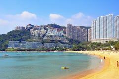 击退海湾海滩,香港 免版税库存图片