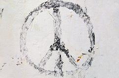 退色的和平标志 免版税图库摄影