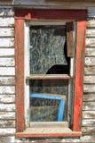 退色的窗架 库存照片