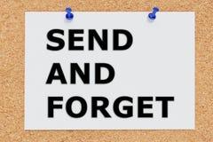 送并且忘记概念 免版税库存图片