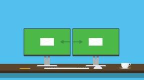 送电子邮件送两个人计算机计算机信封调动 免版税库存照片