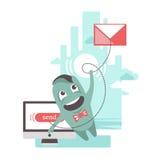 送电子邮件 免版税库存照片