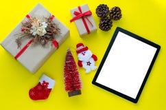 送的问候和特别礼物技术 图库摄影