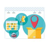 送货业务infographic象 向量例证