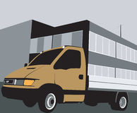 送货车 向量例证