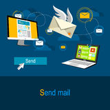 送邮件概念 图库摄影