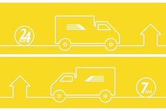 送货业务横幅 免版税库存图片