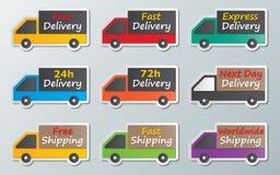 送货卡车标志 图库摄影