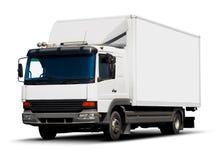 送货卡车白色 库存图片