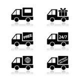 送货车,运输的传染媒介 图库摄影