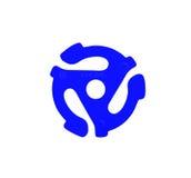 适配器蓝色记录乙烯基 免版税库存照片