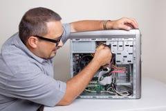 适配器计算机图表查出的维修服务螺丝刀白色 免版税库存图片