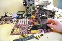 适配器计算机图表查出的维修服务螺丝刀白色 库存照片