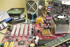 适配器计算机图表查出的维修服务螺丝刀白色 图库摄影