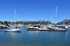 逃亡海湾小游艇船坞-英属黄金海岸昆士兰澳大利亚 图库摄影