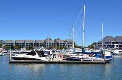 逃亡海湾小游艇船坞-英属黄金海岸昆士兰澳大利亚 免版税库存图片