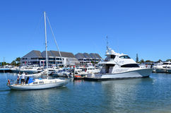逃亡海湾小游艇船坞-英属黄金海岸昆士兰澳大利亚 库存图片
