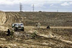 逆恐怖分子操作的重建在军事巴德里的 免版税库存照片