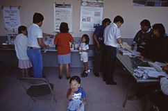 1994总统选举墨西哥城 库存照片