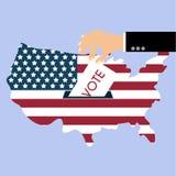 总统选举天表决 美国人Flag& x27; s符号元素 免版税库存图片