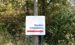 选举委员会 免版税库存照片