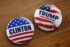 总统选举按钮 免版税图库摄影
