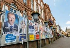 总统选举的所有11名候选人在法国在fr 图库摄影