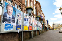 总统选举的所有11名候选人在法国在fr 库存照片